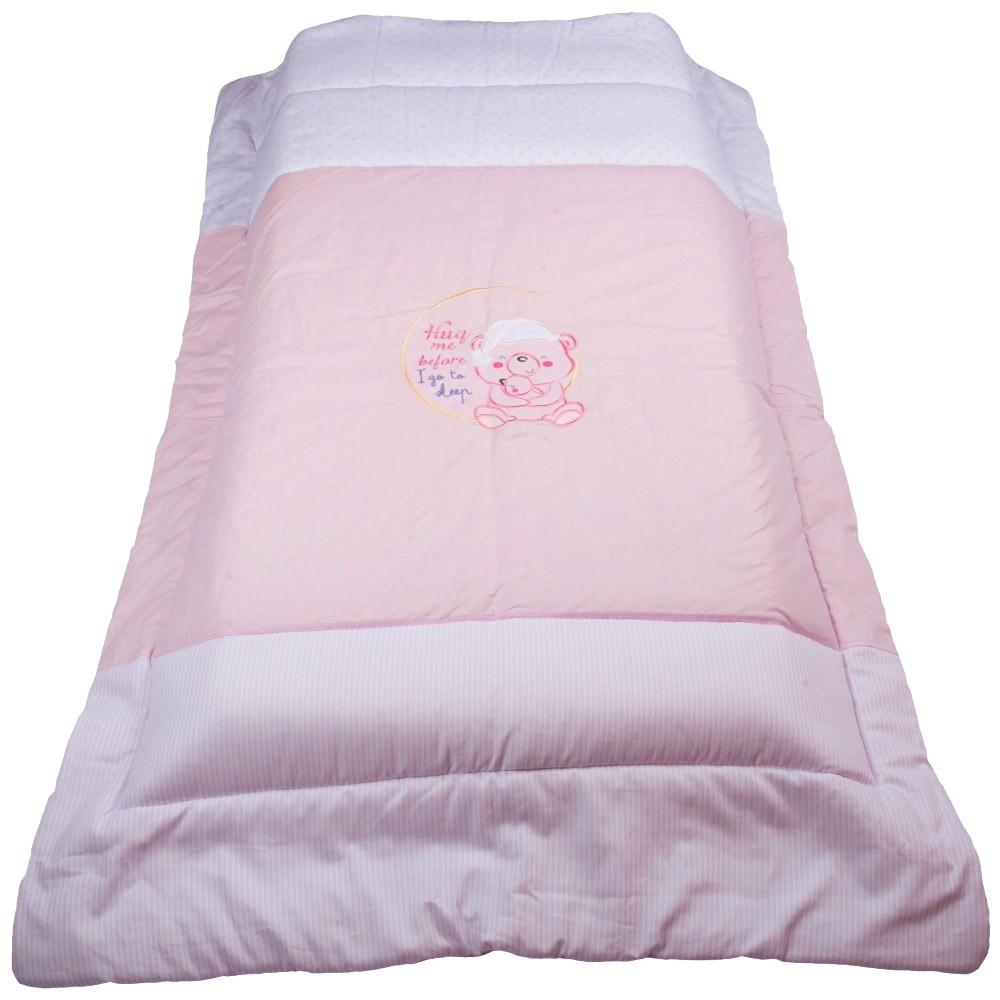 Πάπλωμα Κούνιας Κόσμος Του Μωρού 7954 Sleep Ροζ