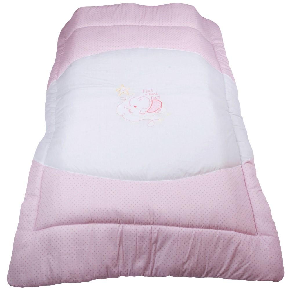 Πάπλωμα Κούνιας Κόσμος Του Μωρού 7959 Hard Day Ροζ