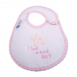 Σαλιάρα Μικρή Κόσμος Του Μωρού 0608 Hard Day Ροζ