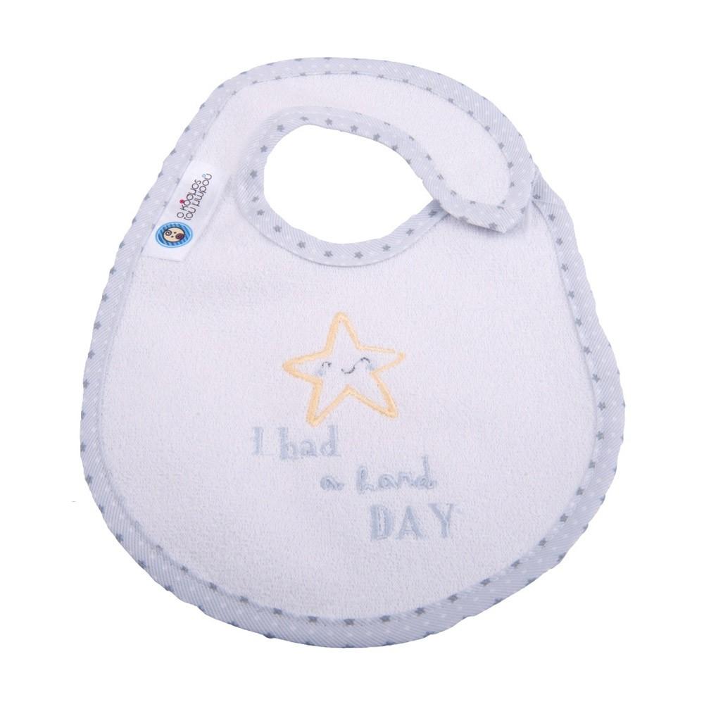 Σαλιάρα Μικρή Κόσμος Του Μωρού 0608 Hard Day Γκρι