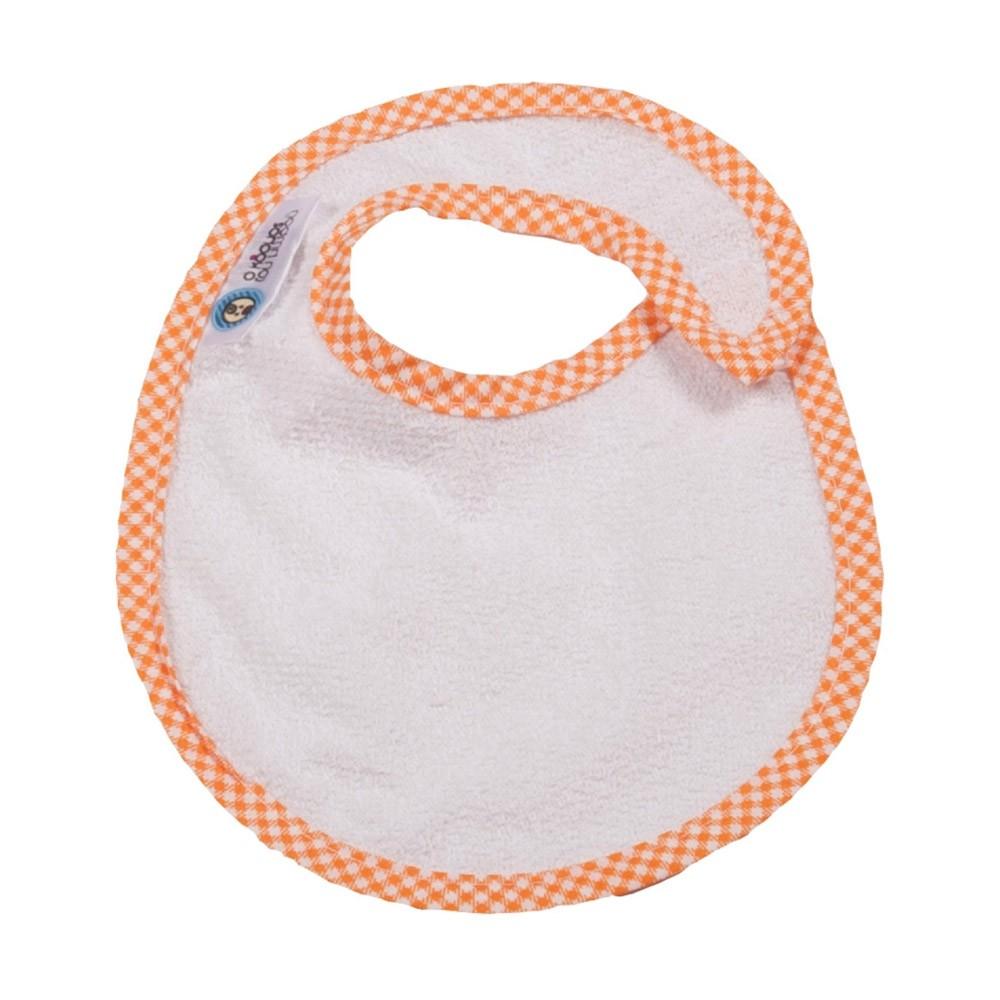 Σαλιάρα Μικρή Κόσμος Του Μωρού 0604 Καρό Πορτοκαλί