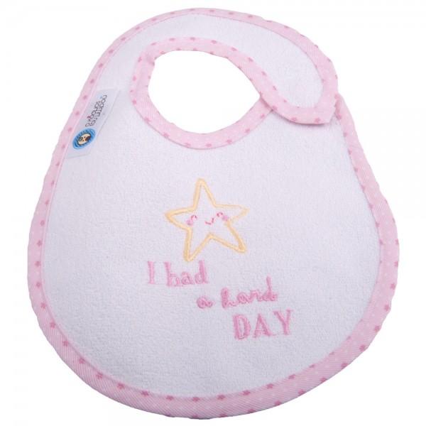 Σαλιάρα Μεσαία Κόσμος Του Μωρού 0609 Hard Day Ροζ