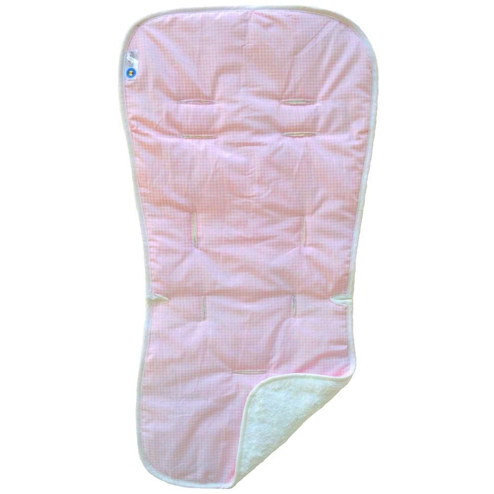 Στρωματάκι Καροτσιού Κόσμος Του Μωρού 6302 Καρό Ροζ