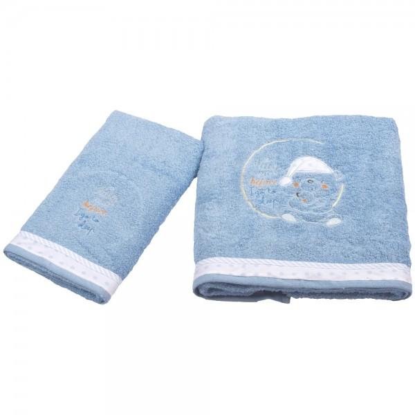 Βρεφικές Πετσέτες (Σετ 2τμχ) Κόσμος Του Μωρού 0590 Sleep Σιέλ