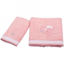 Βρεφικές Πετσέτες (Σετ 2τμχ) Κόσμος Του Μωρού 0590 Sleep Ροζ