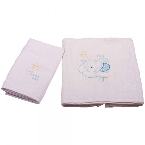Βρεφικές Πετσέτες (Σετ 2τμχ) Κόσμος Του Μωρού 0575 Hard Day Σιέλ