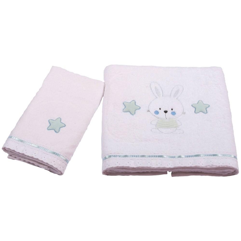 Βρεφικές Πετσέτες (Σετ 2τμχ) Κόσμος Του Μωρού 0560 Bunny Σιέλ