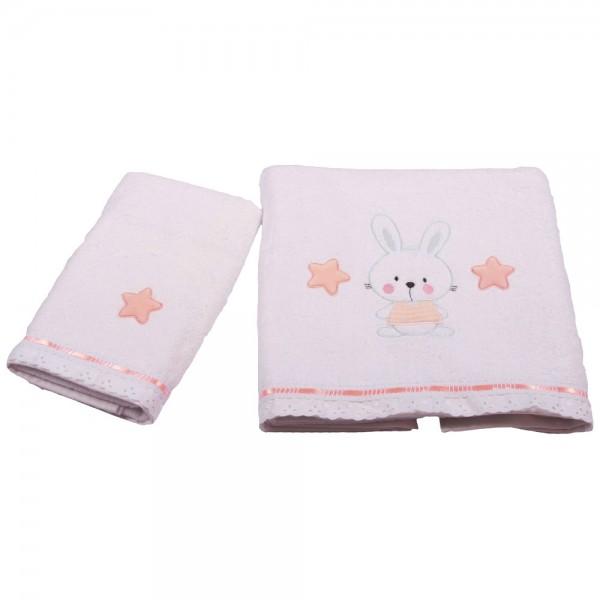 Βρεφικές Πετσέτες (Σετ 2τμχ) Κόσμος Του Μωρού 0560 Bunny Ροζ