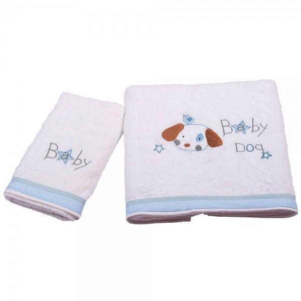 Βρεφικές Πετσέτες (Σετ 2τμχ) Κόσμος Του Μωρού 0540 Baby Dog