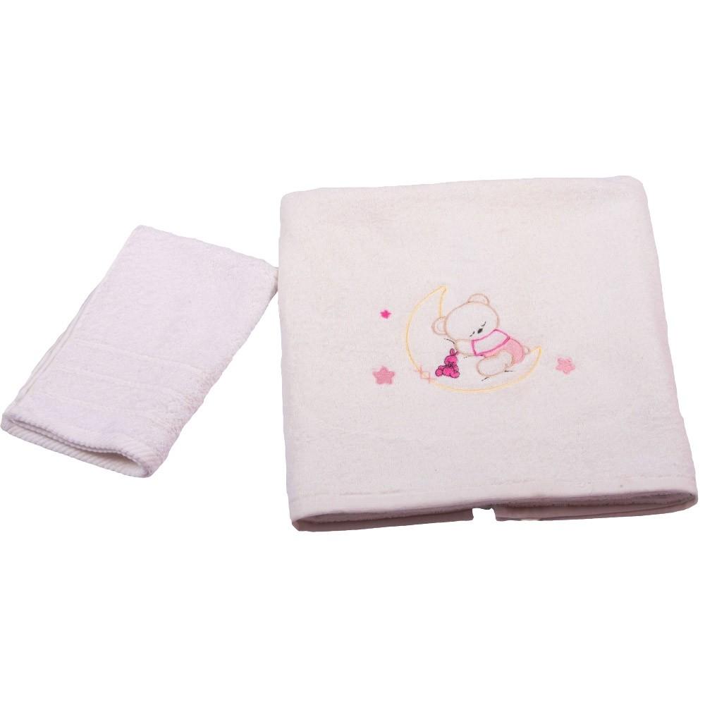 Βρεφικές Πετσέτες (Σετ 2τμχ) Κόσμος Του Μωρού 0502 Moon Ροζ