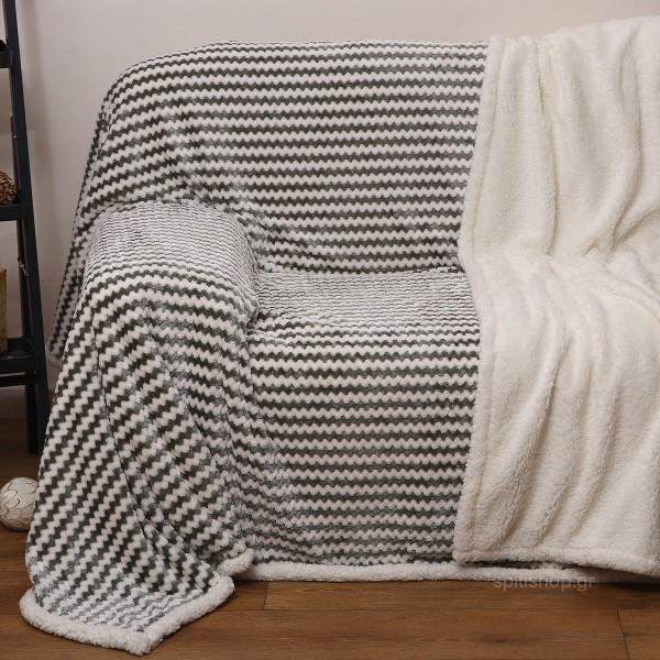 Ριχτάρι Τριθέσιου (180x270) Με Γουνάκι Anna Riska 380