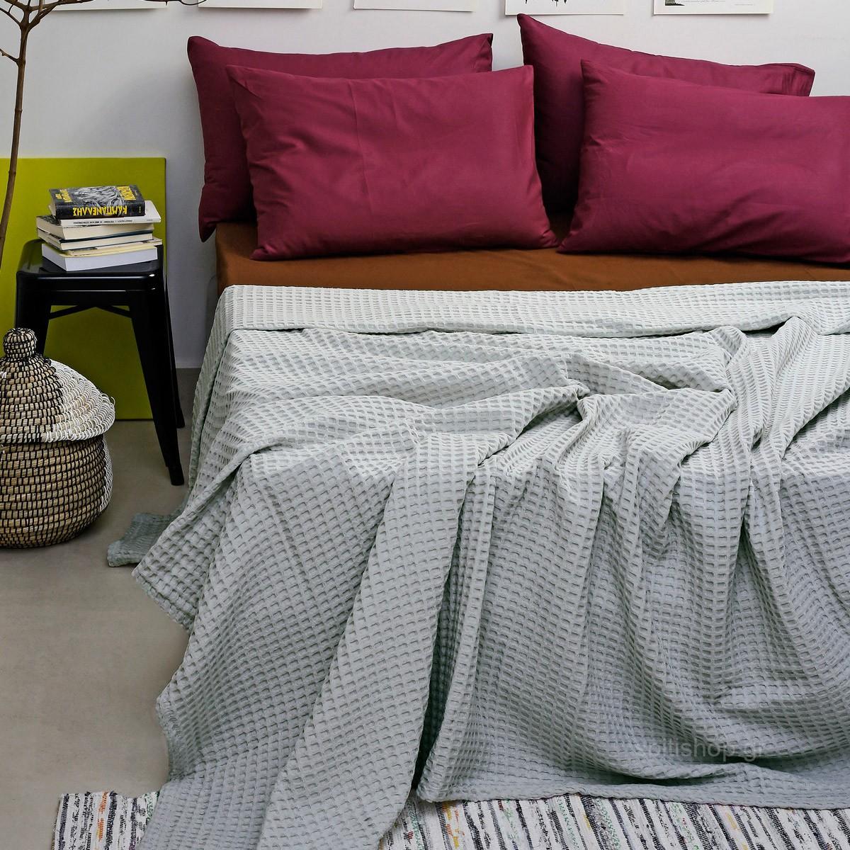 Κουβέρτα Πικέ Μονή Melinen Bristol Mint