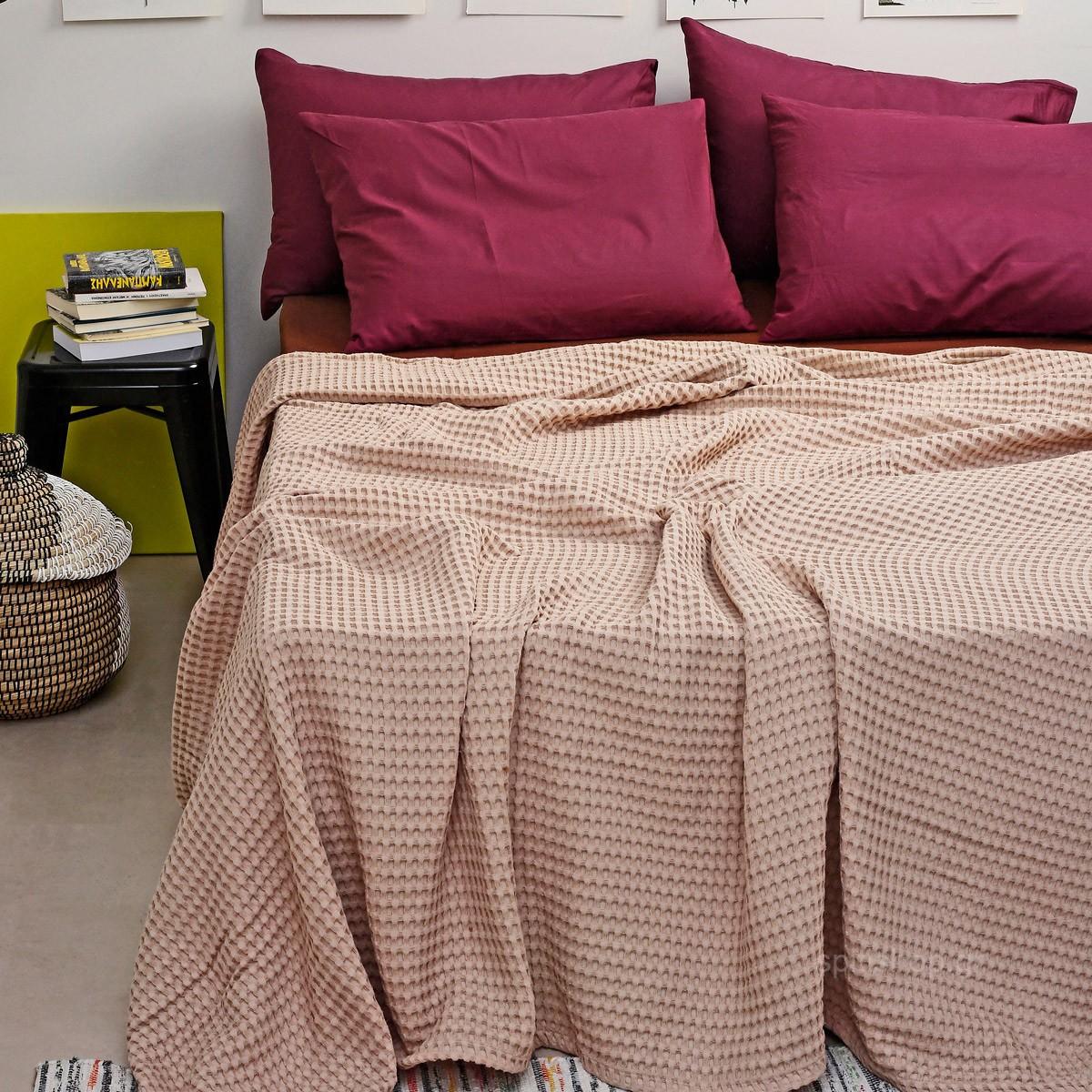 Κουβέρτα Πικέ Μονή Melinen Bristol Beige