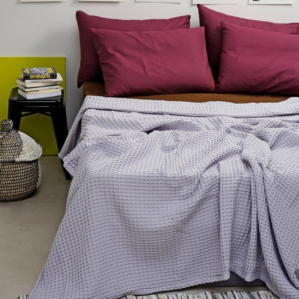 Κουβέρτα Πικέ Διπλή Melinen Bristol Ice