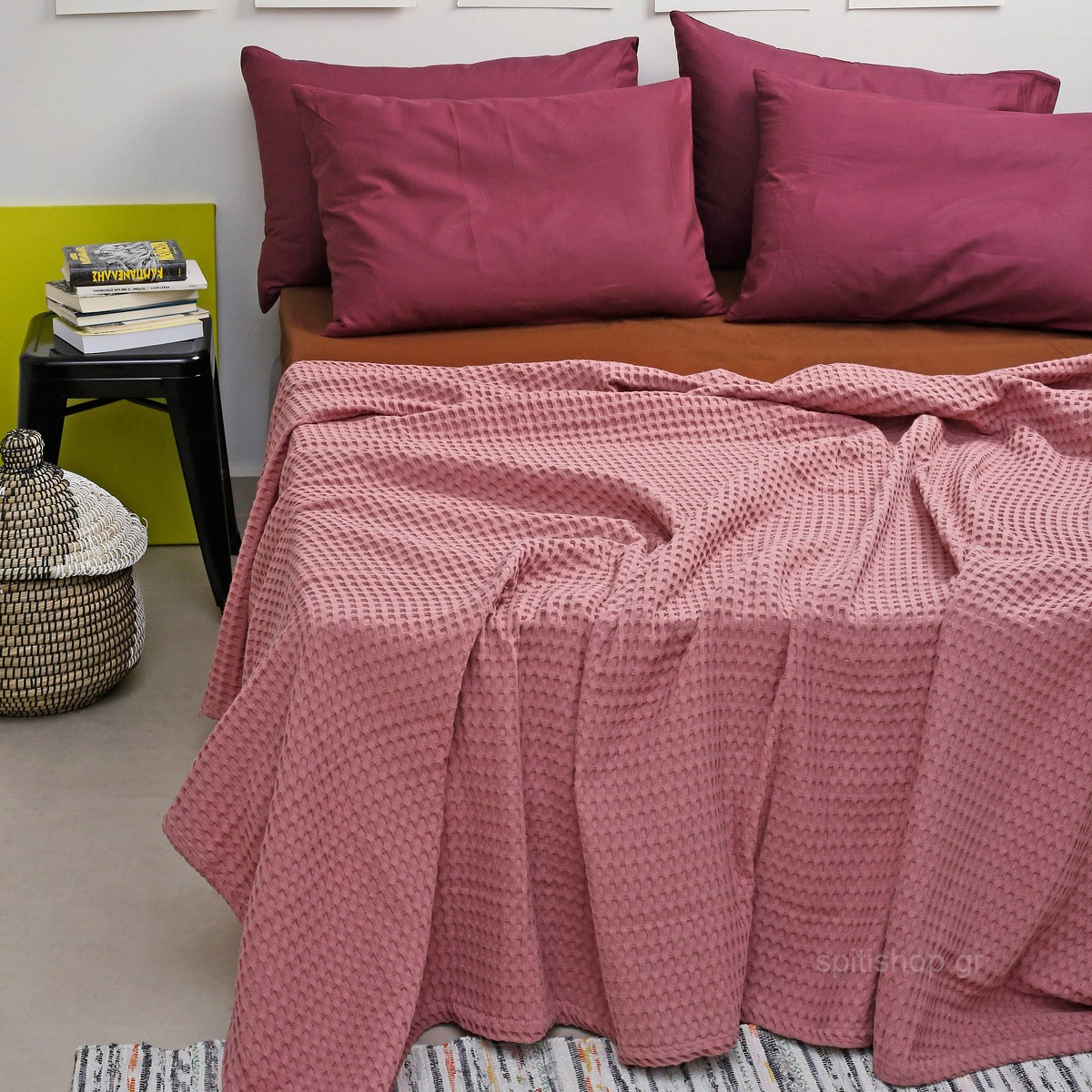 Κουβέρτα Πικέ Υπέρδιπλη Melinen Bristol Apple