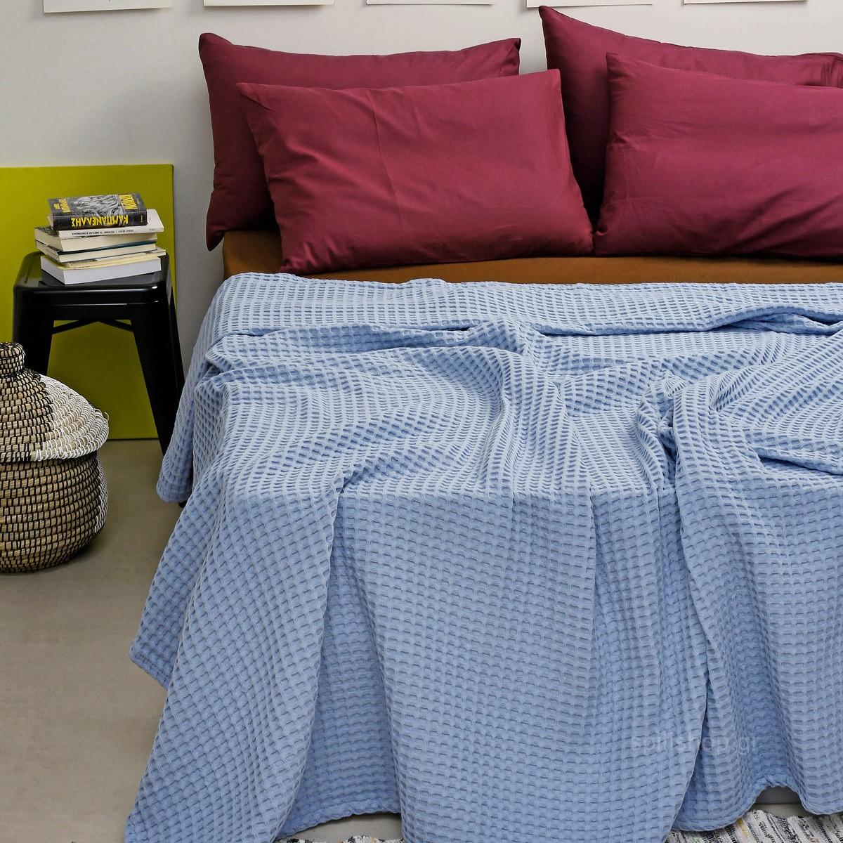 Κουβέρτα Πικέ King Size Melinen Bristol Jean home   κρεβατοκάμαρα   κουβέρτες   κουβέρτες πικέ υπέρδιπλες