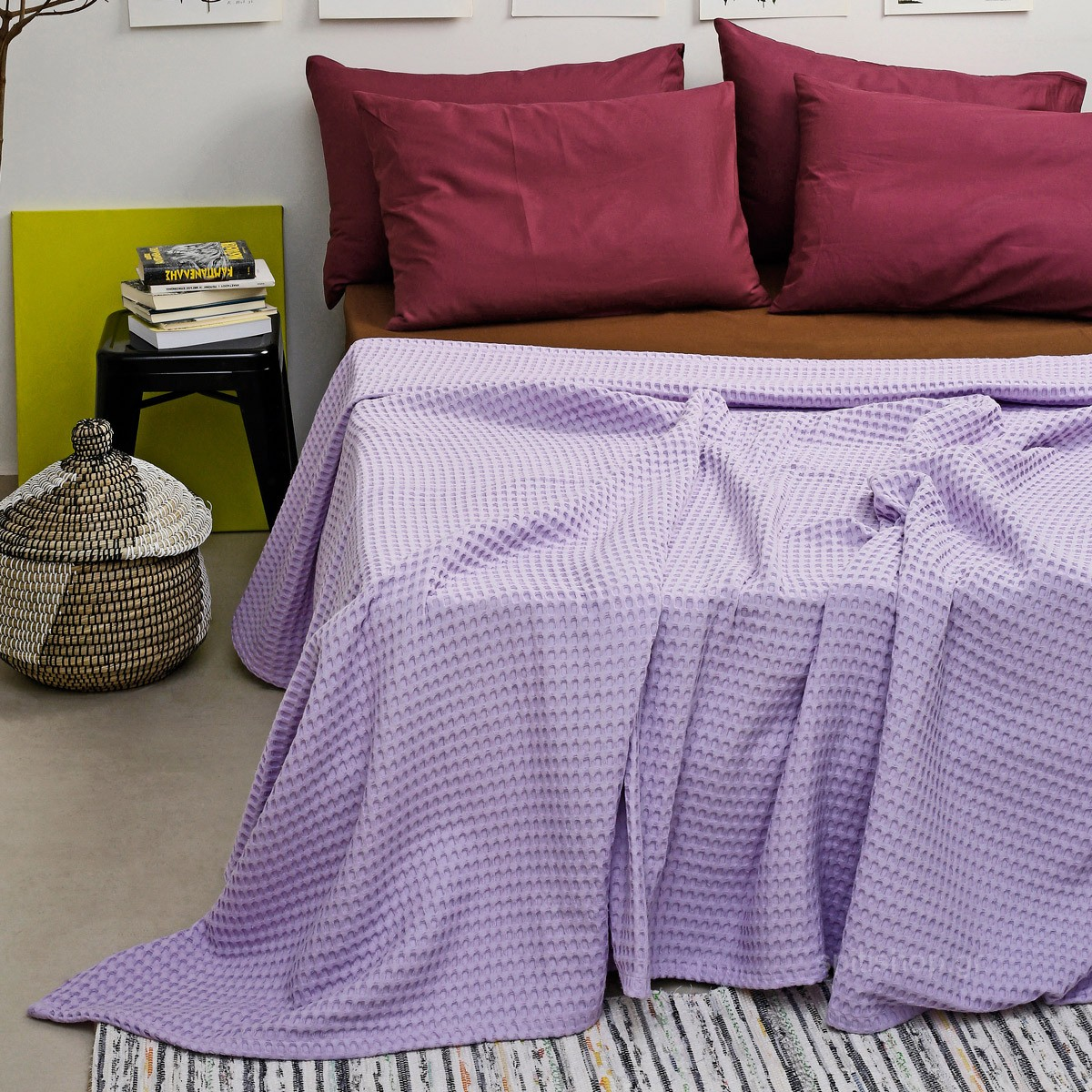 Κουβέρτα Πικέ King Size Melinen Bristol Lilac