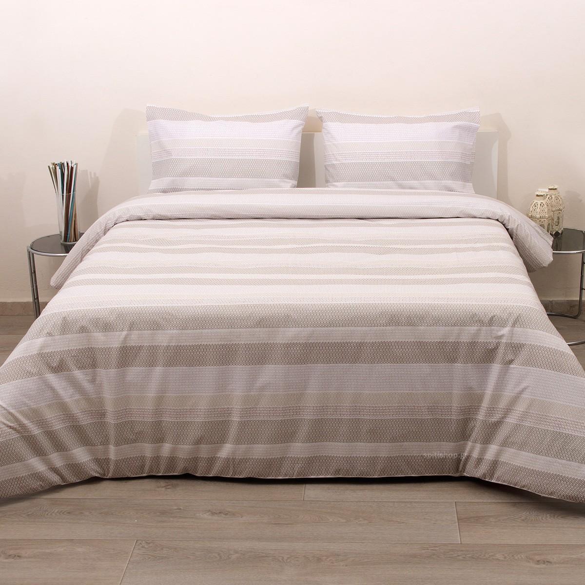 Κουβερλί Ημίδιπλο (Σετ) Viopros Fresh Λέονορ Λινό home   κρεβατοκάμαρα   κουβερλί   κουβερλί ημίδιπλα   διπλά