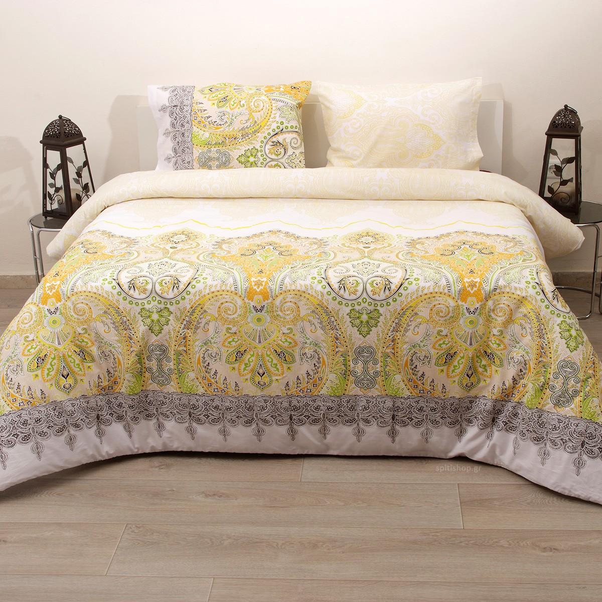 Πάπλωμα Ημίδιπλο (Σετ) Viopros Fresh Ίντι home   κρεβατοκάμαρα   παπλώματα   παπλώματα ημίδιπλα   διπλά