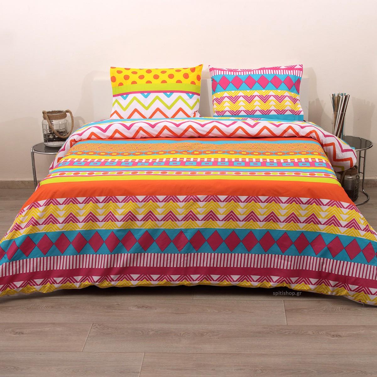 Κουβερλί Ημίδιπλο (Σετ) Viopros Fresh Τζίντζερ home   κρεβατοκάμαρα   κουβερλί   κουβερλί ημίδιπλα   διπλά