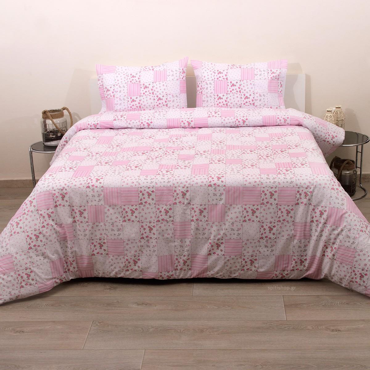 Πάπλωμα Ημίδιπλο (Σετ) Viopros Fresh Ρόουζ home   κρεβατοκάμαρα   παπλώματα   παπλώματα ημίδιπλα   διπλά