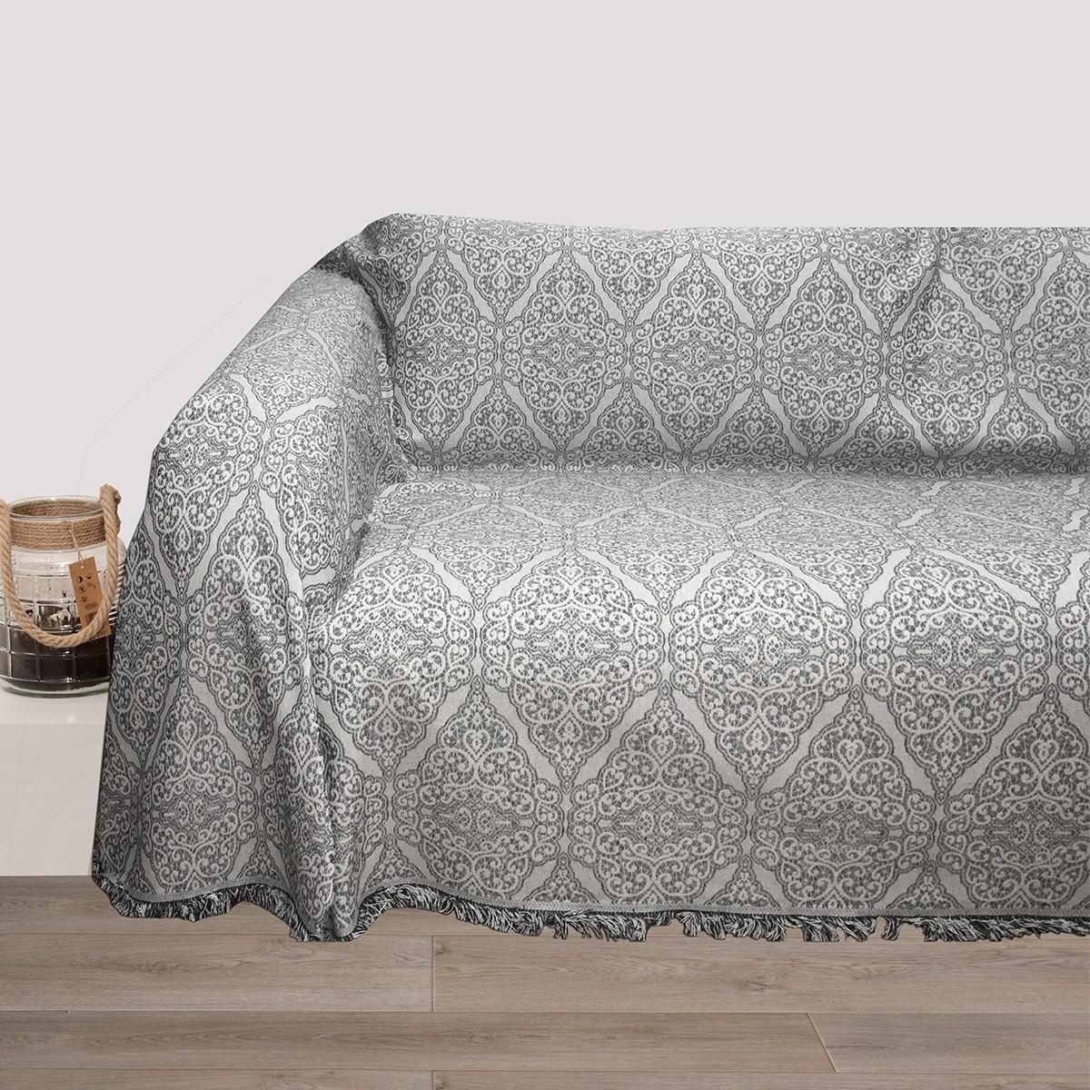 Ριχτάρι Τριθέσιου (180×280) Viopros 3011 Γκρι