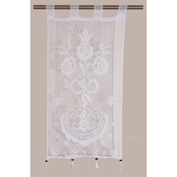 Κουρτίνα Πλεκτή (80x120) Με Θηλιές Viopros Curtain Ideas 3650