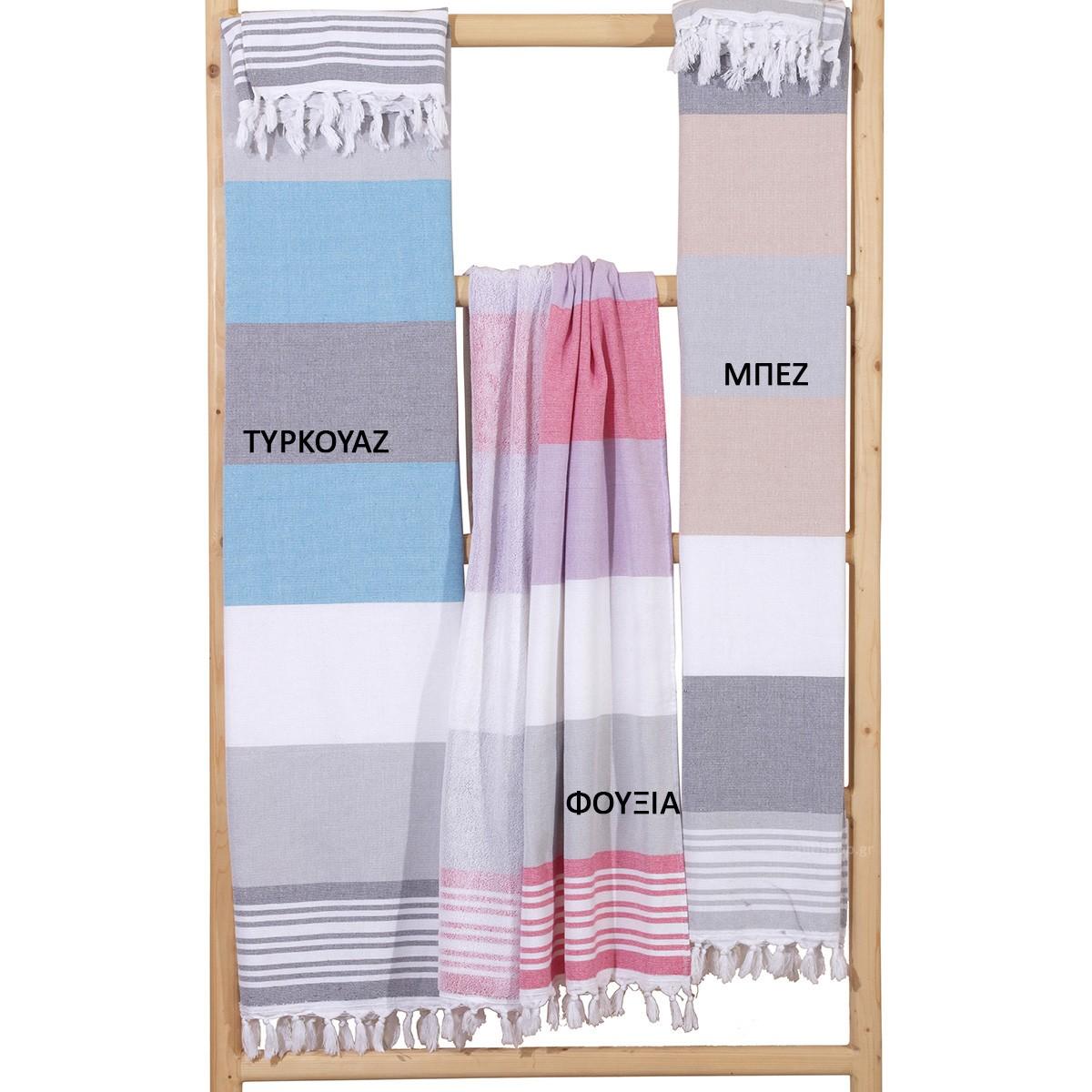 Πετσέτα Θαλάσσης - Παρεό Viopros Summer Σάντυ home   θαλάσσης   πετσέτες θαλάσσης ενηλίκων