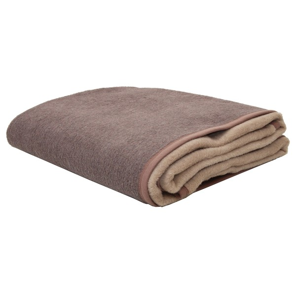 Κουβέρτα Ακρυλική Υπέρδιπλη 2 Όψεων Viopros Καφέ/Μπεζ
