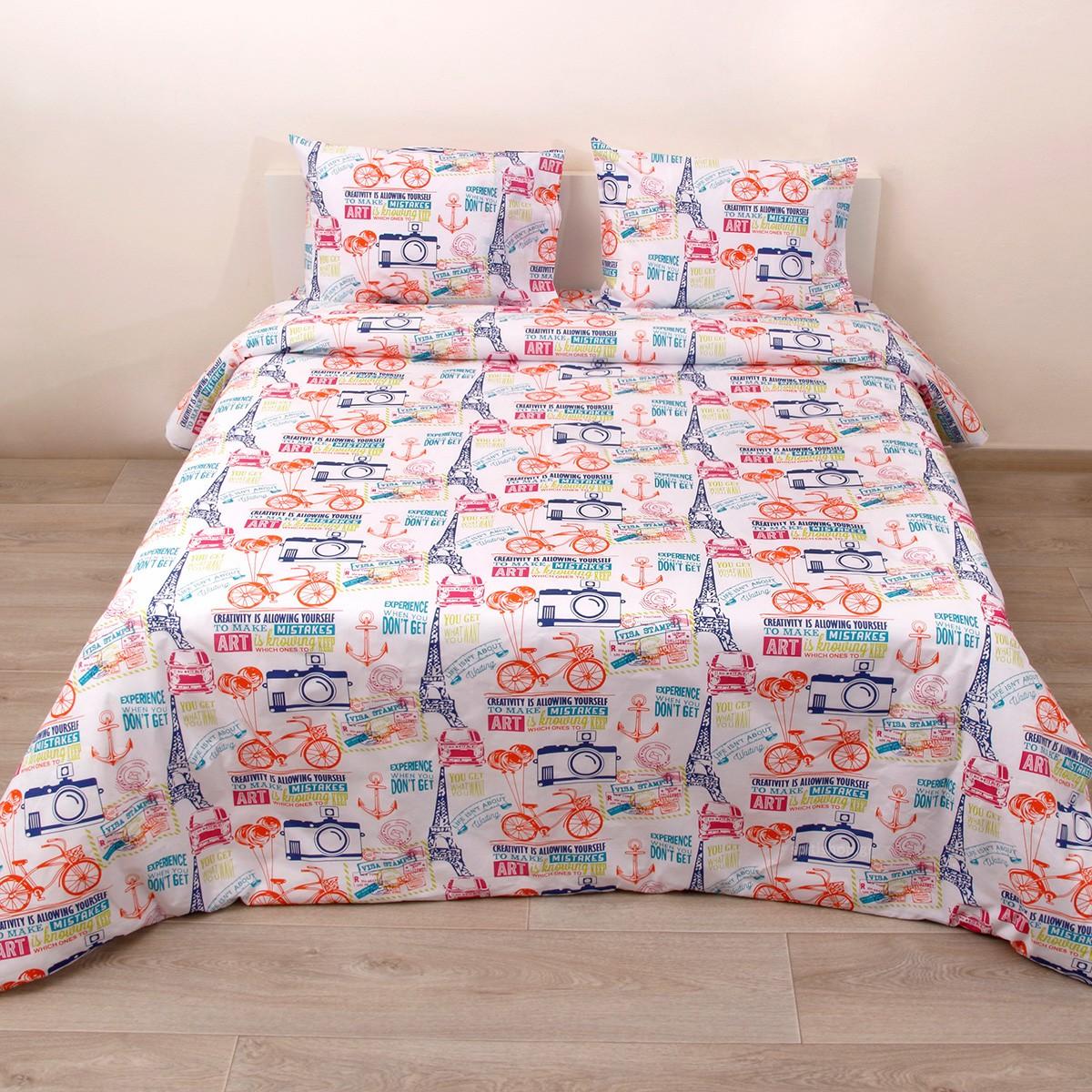 Κουβερλί Κούνιας (Σετ) Viopros Baby Cotton Πάρκερ