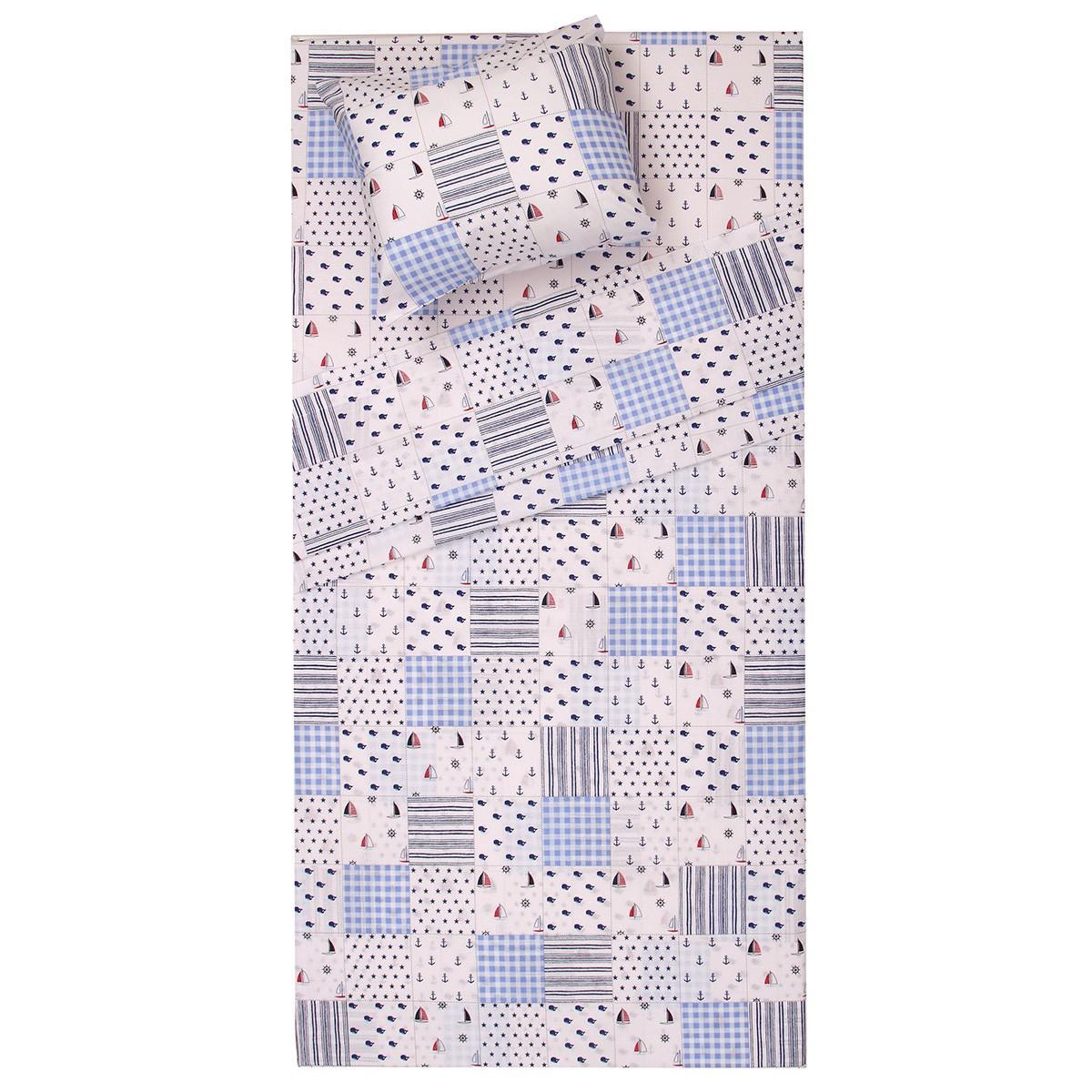 Κουβερλί Κούνιας (Σετ) Viopros Baby Cotton Κρουζ