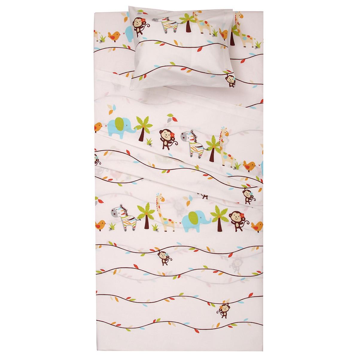 Πάπλωμα Κούνιας (Σετ) Viopros Baby Cotton Σαφάρι
