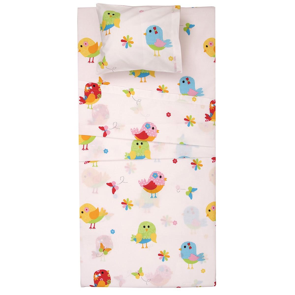 Σεντόνια Λίκνου (Σετ) Viopros Baby Cotton Μπέρντι