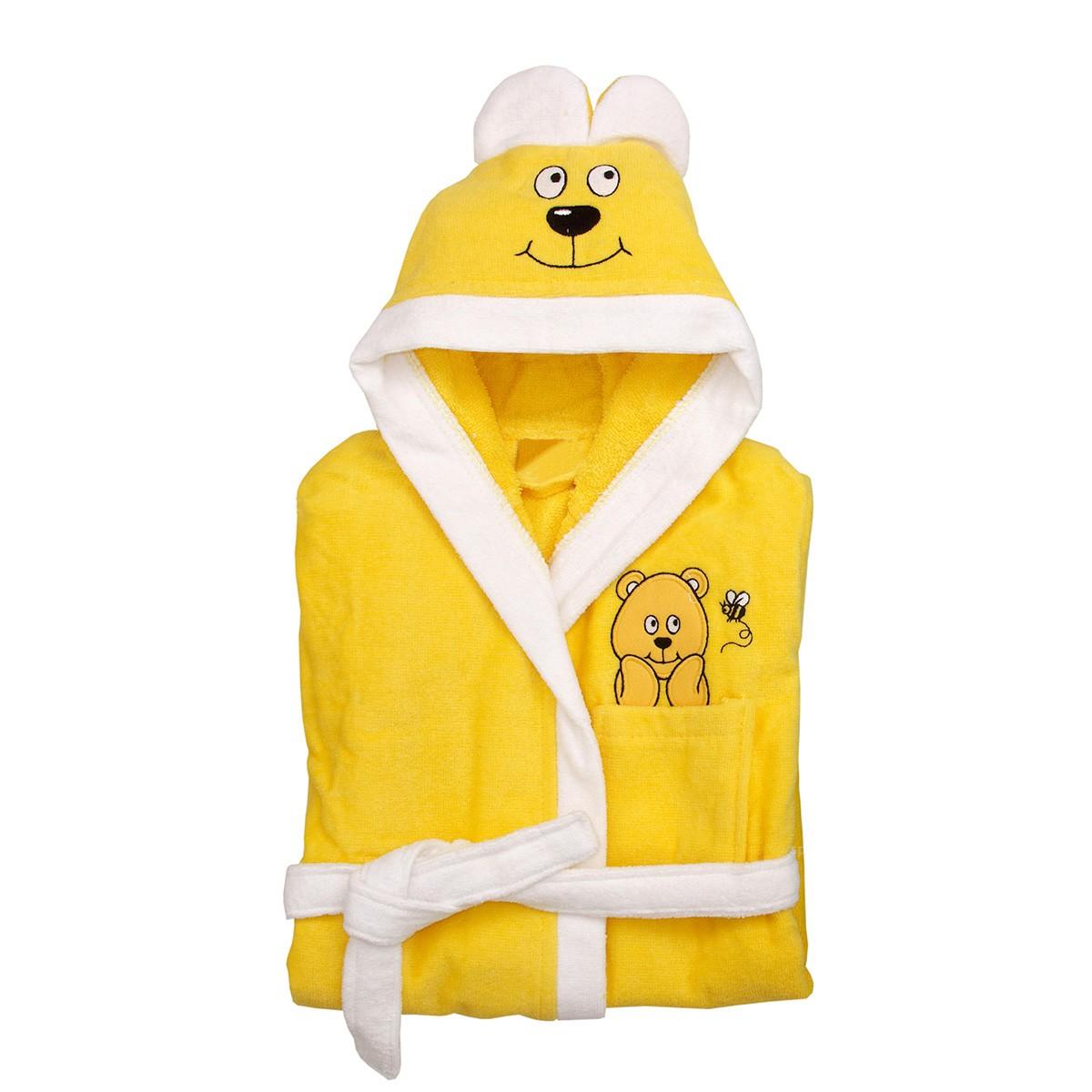 Παιδικό Μπουρνούζι Viopros Τέρι Κίτρινο Νο3-5 Νο3-5