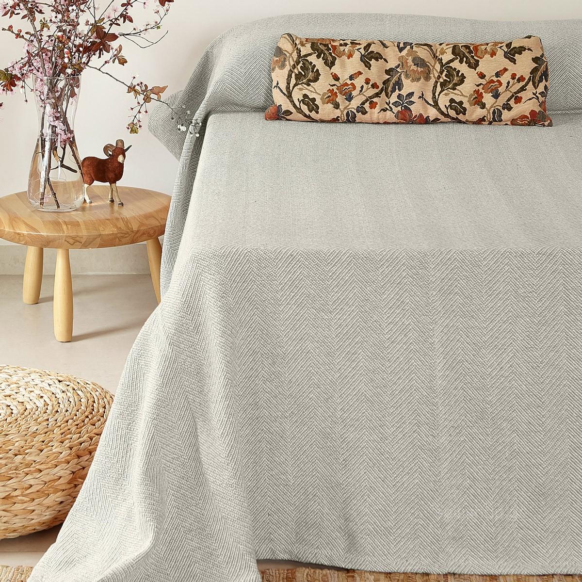 Κουβερτόριο Υπέρδιπλο Melinen Chevron Grey home   κρεβατοκάμαρα   κουβέρτες   κουβέρτες καλοκαιρινές υπέρδιπλες