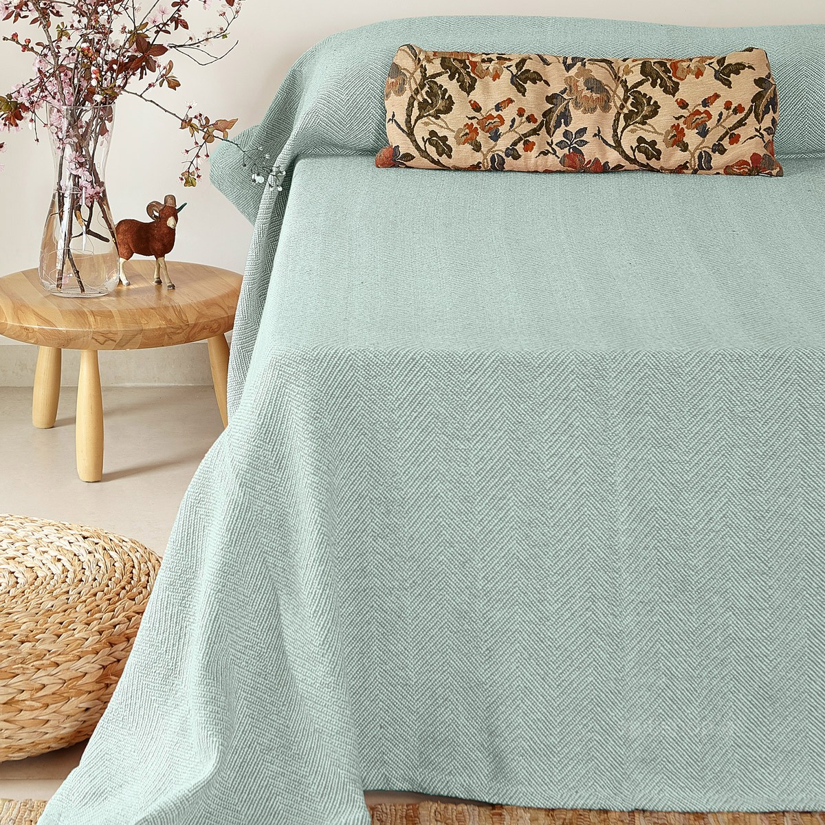 Κουβερτόριο Υπέρδιπλο Melinen Chevron Aqua home   κρεβατοκάμαρα   κουβέρτες   κουβέρτες καλοκαιρινές υπέρδιπλες