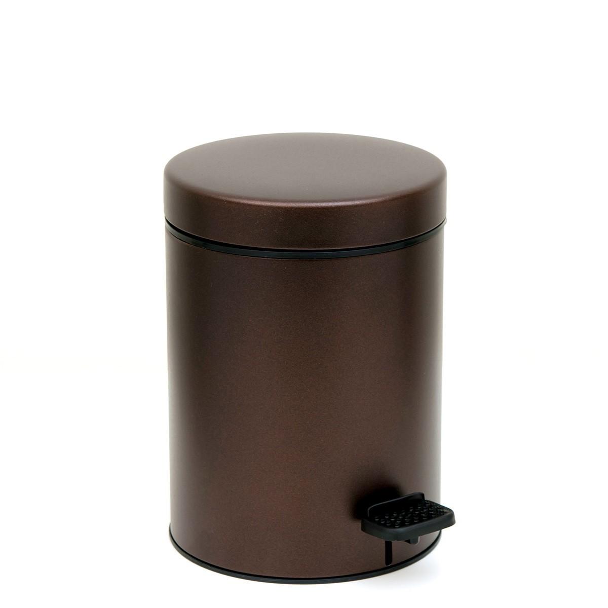 Κάδος Απορριμμάτων (18x25) PamCo 3Lit 605 Wenge Matte home   μπάνιο   κάδοι απορριμμάτων