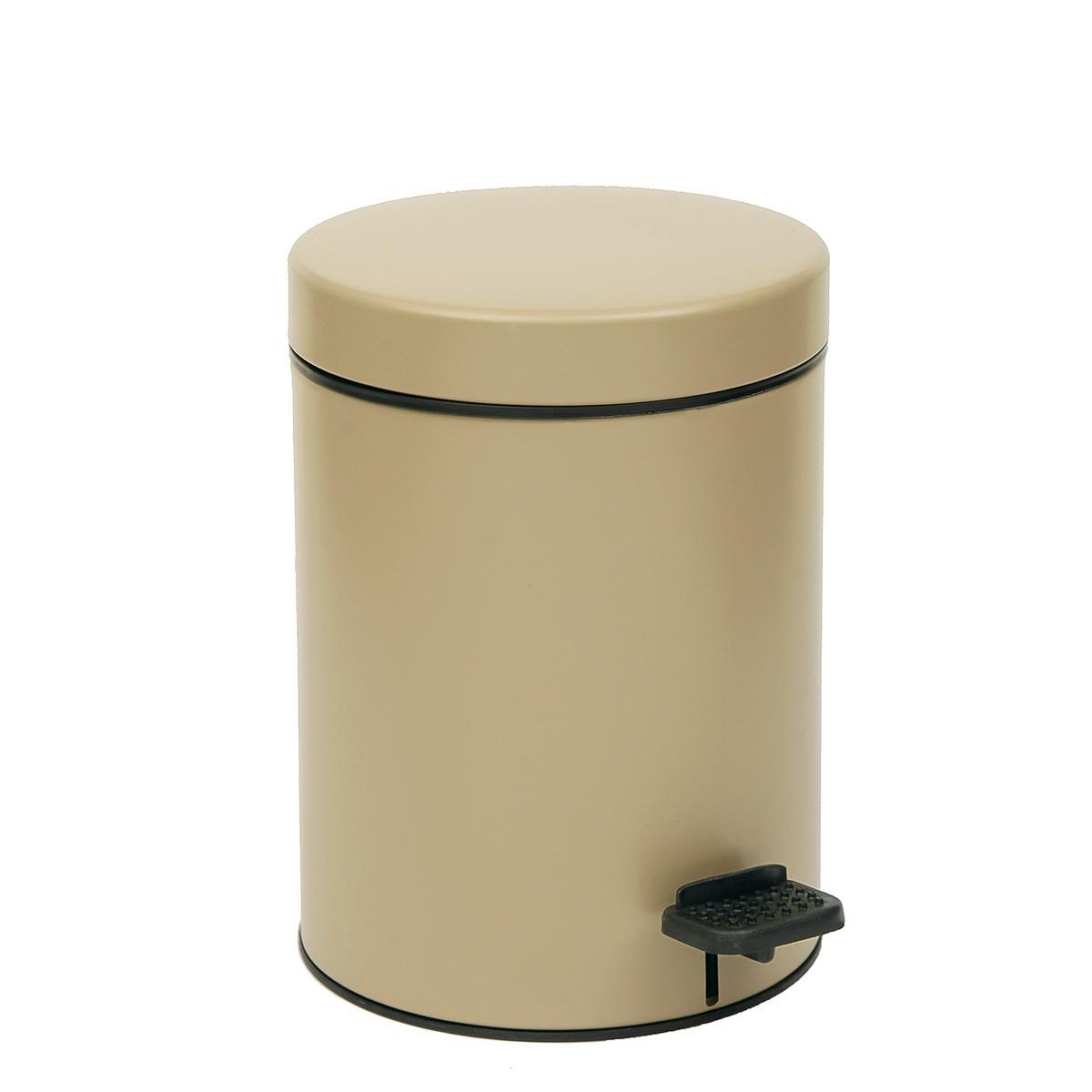 Κάδος Απορριμμάτων (18x25) PamCo 3Lit 605 Beige Matte home   μπάνιο   κάδοι απορριμμάτων