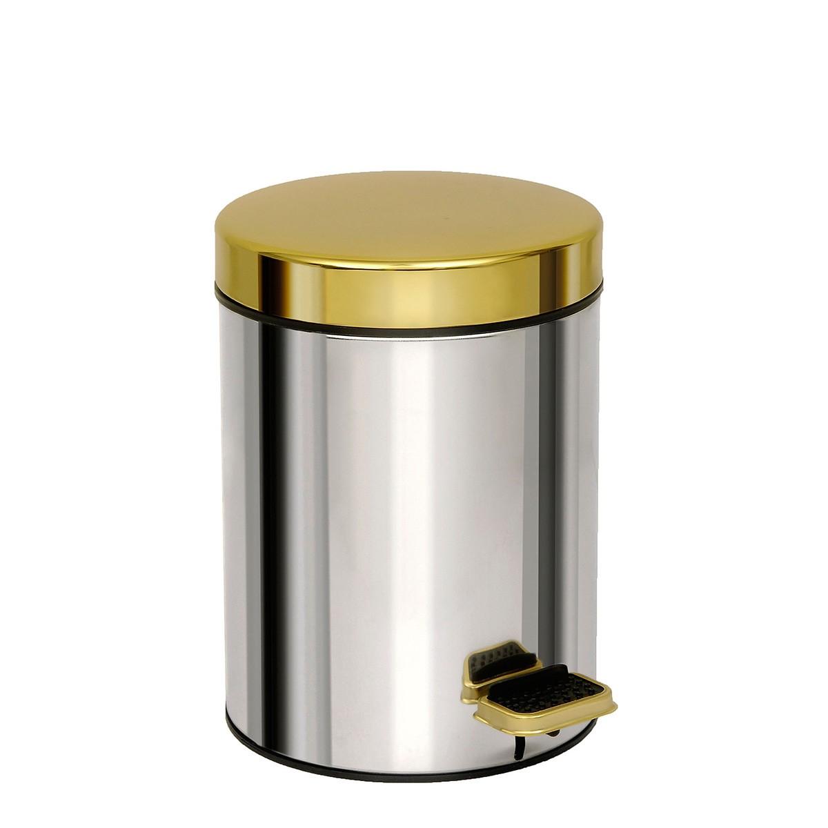 Κάδος Απορριμμάτων (18x25) PamCo 3Lit 602 Chrome/Gold home   μπάνιο   κάδοι απορριμμάτων