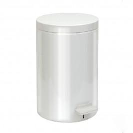 Κάδος Απορριμμάτων (25x40) PamCo 12Lit 12-090-033 White Matte