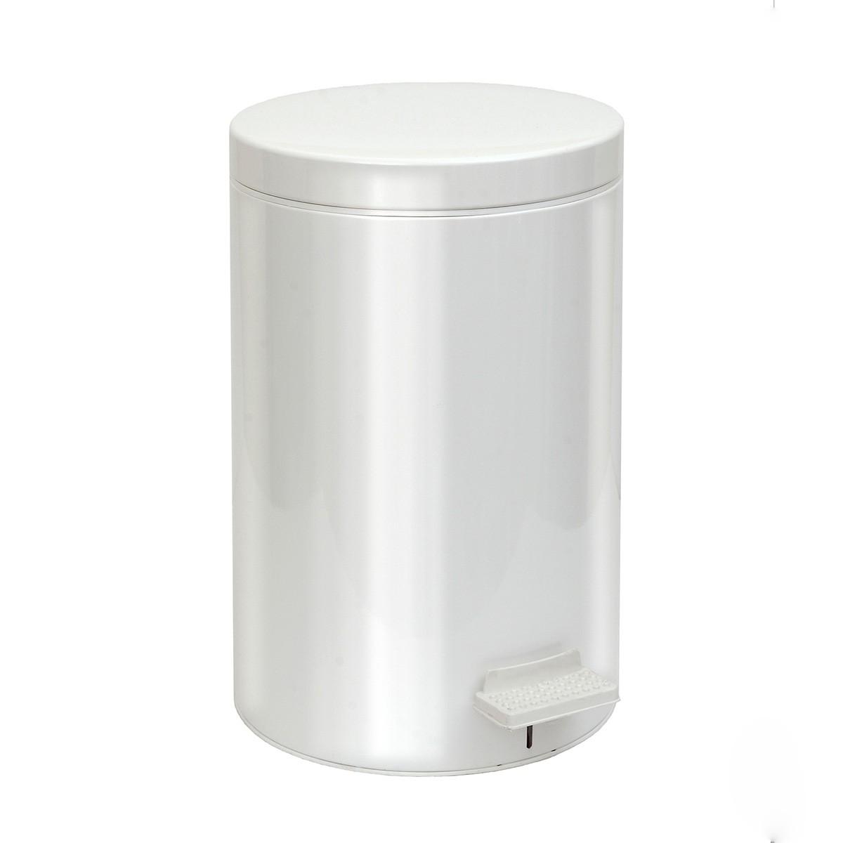 Κάδος Απορριμάτων (25×40) PamCo 12Lit 90 White Matte