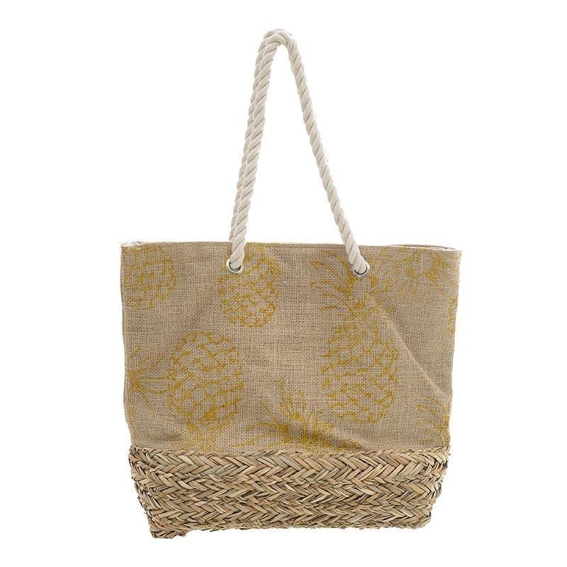 Ψάθινη Τσάντα Παραλίας InArt 5-42-367-0032 home   θαλάσσης   τσάντες θαλάσσης