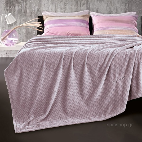 Κουβέρτα Fleece Υπέρδιπλη Guy Laroche Rombus Lilac