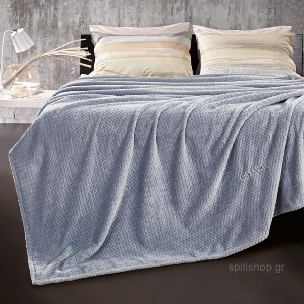Κουβέρτα Fleece Υπέρδιπλη Guy Laroche Rombus Sky