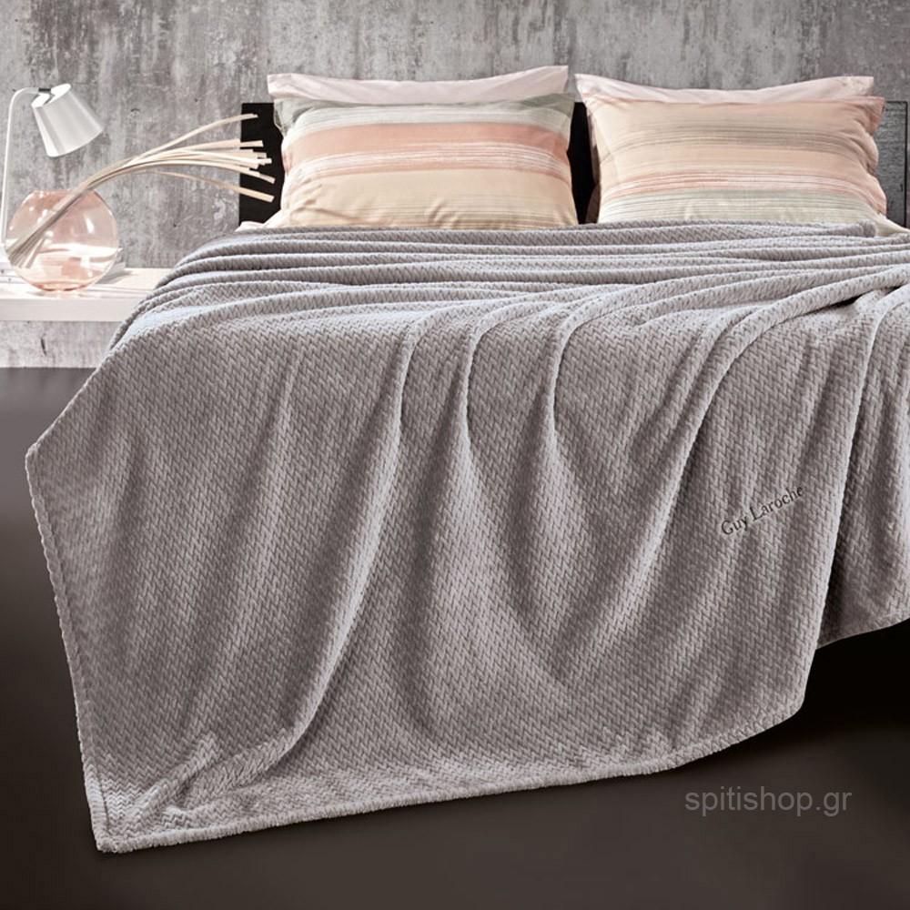 Κουβέρτα Fleece Υπέρδιπλη Guy Laroche Rombus Smoke home   κρεβατοκάμαρα   κουβέρτες   κουβέρτες fleece υπέρδιπλες
