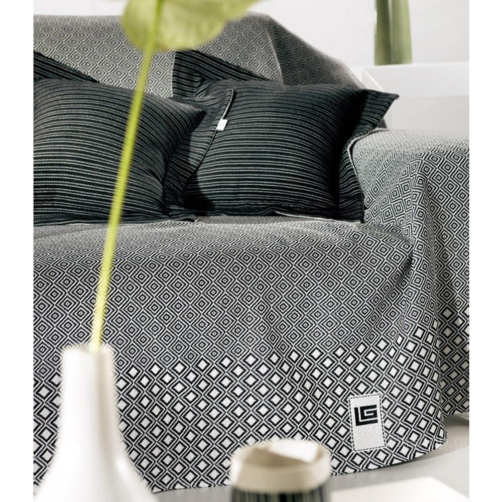 Ριχτάρι Πολυθρόνας (180×150) Guy Laroche Block Black & White