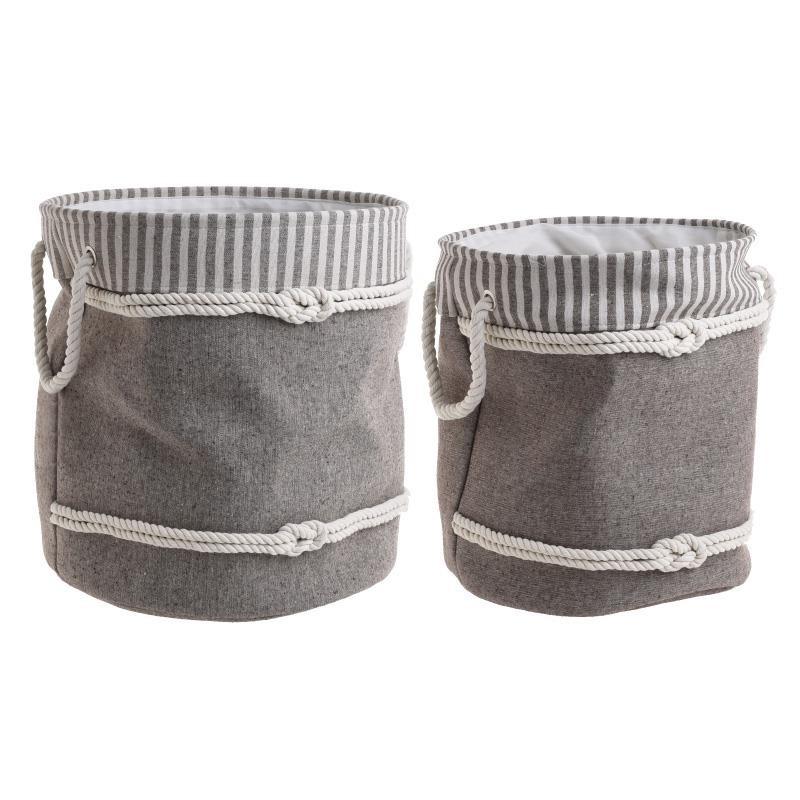 Καλάθια Απλύτων (Σετ 2τμχ) InArt 3-65-367-0005 home   μπάνιο   καλάθια απλύτων