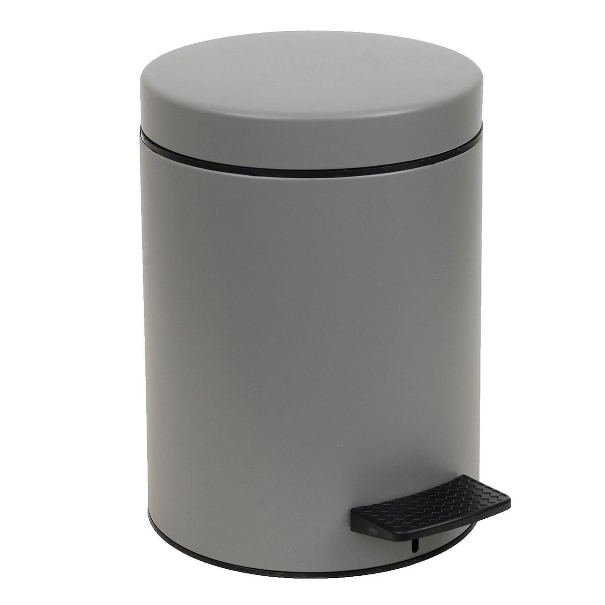 Κάδος Απορριμάτων (20×28) PamCo 5Lit 96 Concrete Grey