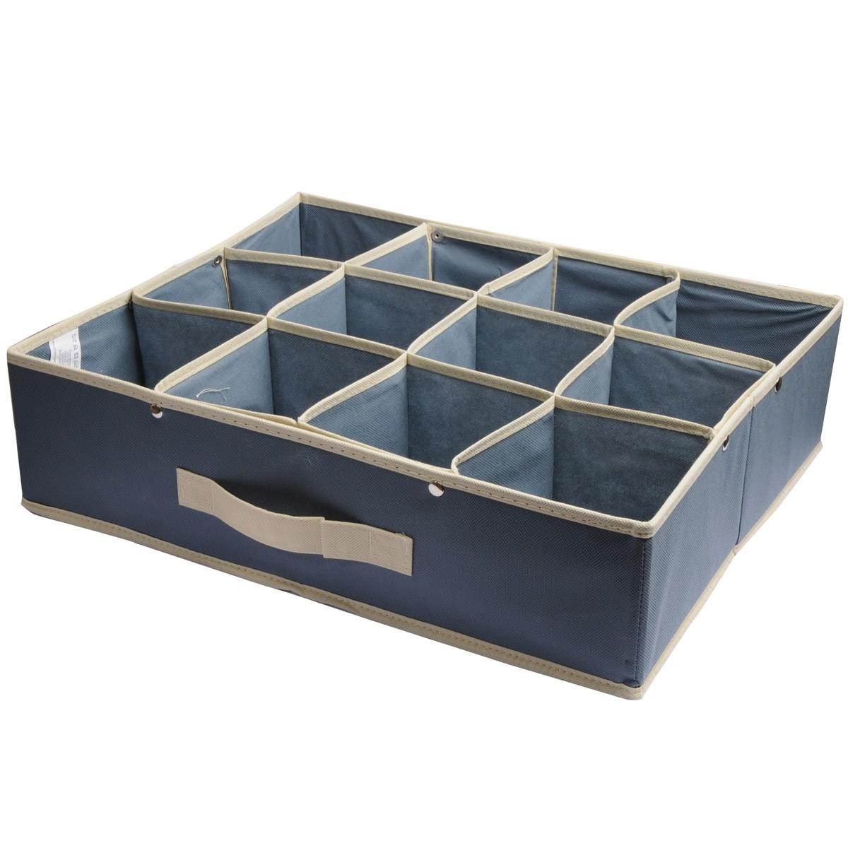 Κουτί Τακτοποίησης 12 Θέσεων εstia 03-0721 Grey home   κρεβατοκάμαρα   οργάνωση ντουλάπας