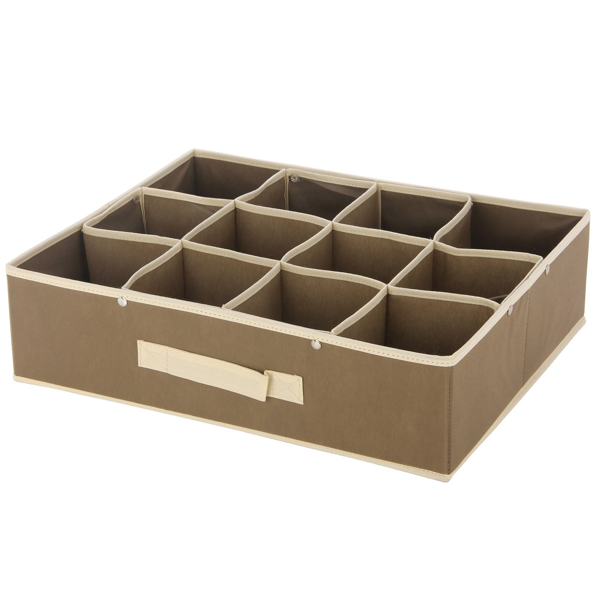 Κουτί Τακτοποίησης 12 Θέσεων εstia 03-0721 Brown home   κρεβατοκάμαρα   οργάνωση ντουλάπας